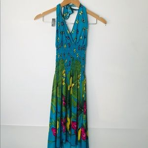 🦋Beach Vacation Summer Halter Dress